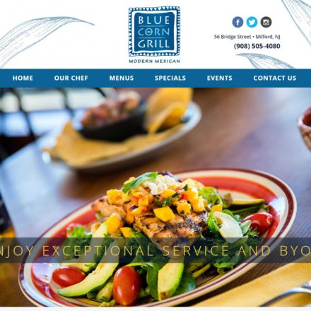 Blue Corn Grill Website Design