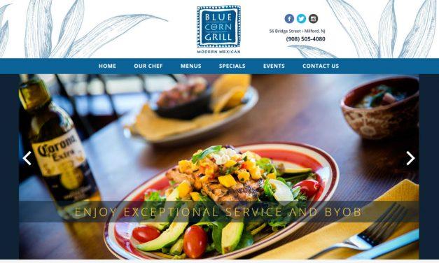 Blue Corn Grill Website Design
