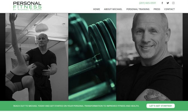 Mobile friendly web design for NJ Personal Trainer